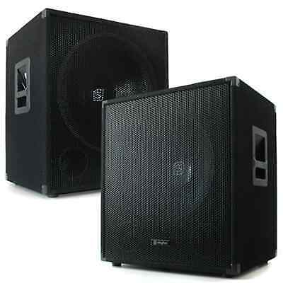 2x DJ/PA BOXEN 38CM LAUTSPRECHER PARTY DISCO MUSIK BASSBOX SUBWOOFER PAAR 1200W