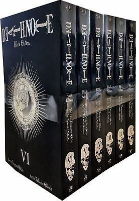 Death Note Black Edition Volume 1-6 Collection 6 Books Set Pack by Tsugumi Ohba