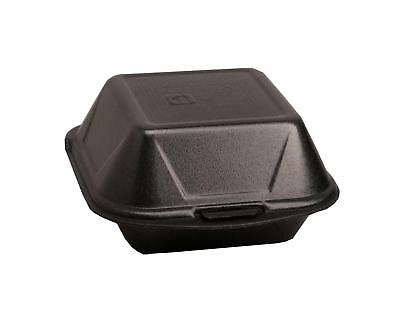 500 Hamburgerboxen Hamburger Box schwarz IP7 Menübox Lunchbox
