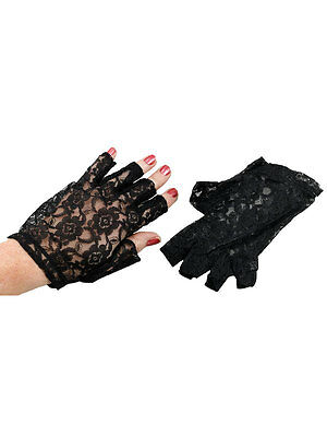 New Black Goth Party Sexy Dressy Womans Ladies Lace Gloves Mittens Fingerless