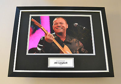 Ali Campbell Signed Framed 16x12 Photo Autograph Display UB40 Memorabilia + COA