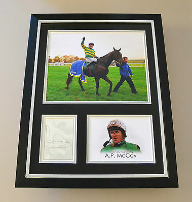 AP Tony McCoy Signed Framed 16x12 Photo Autograph Display Jockey Memorabilia COA