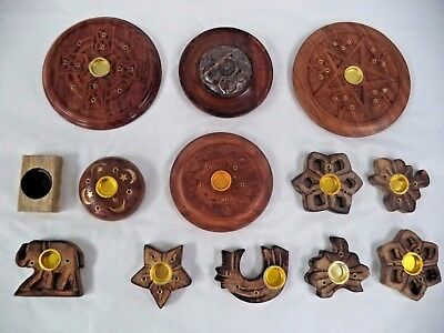 Wooden Incense Burner Holder Ash Catcher for Sticks & Cones: U CHOOSE! (Wood)