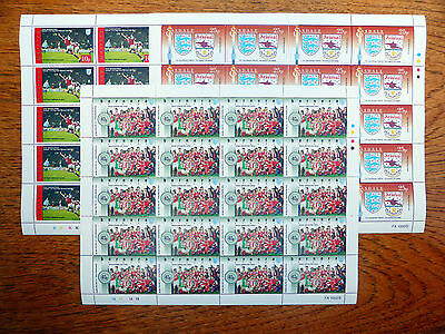 FOOTBALL Arsenal 3 Different Complete Sheets of 20 SEE BELOW...SALE PRICE FP2855