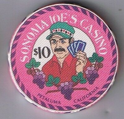Sonoma Joe's $10.00 July 4th Casino Chip Tournament Weekend 1995 Petaluma Ca.