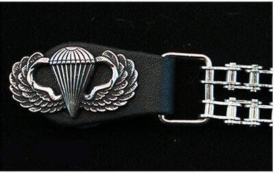 U.S. ARMY Airborne wings vest extender double motorcycle chain for biker vest