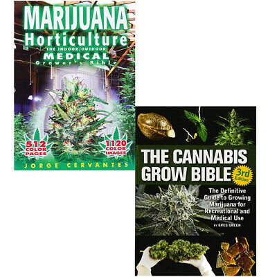 Marijuana Horticulture Bible Collection 2 Books Set(Cannabis Grow Bible) New