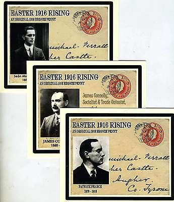 Ireland, Easter Rising Commemorative Card With 1916 Coin Complete Set of Seven.