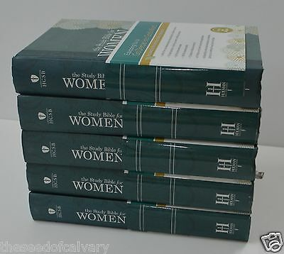 The Study Bible for Women, Hardcover HCSB (LOT OF 5) NEW