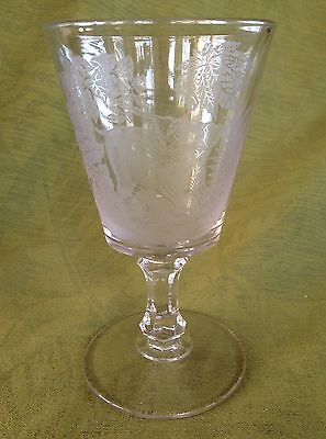 Victorian ETCHED GLASS Animal **ELEPHANT GOBLET** Pattern Glass 1870s