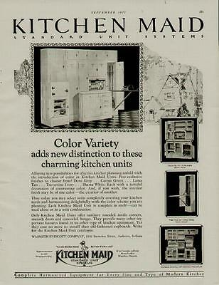 1927 Kitchen Maid Cabinets Ad / Charming Kitchen Units....n133