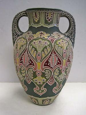 ANTIQUE SIGNED MORIAGE URN VASE WITH HANDLES RARE