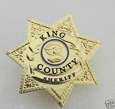 The Walking Dead Rick Grimes King County Star Badge for Costume Uniform OBSOLETE