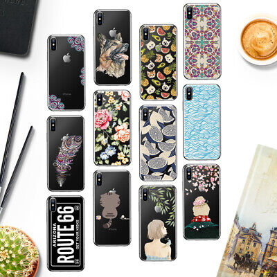 Cool Soft TPU Housse Etui Coque Case Cover For Apple iPhone 4s 5s 5c SE 6 6s 7 8