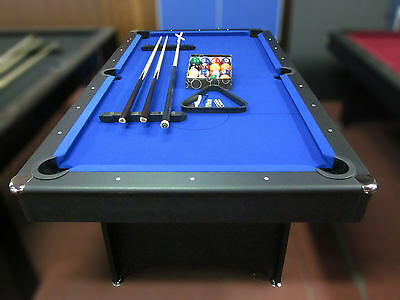 New 7 Ft Pool Table With Accessories  Package Blue Felt
