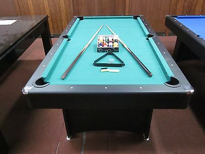 New 7 Ft Pool Table With Accessories Package  [Green] Felt
