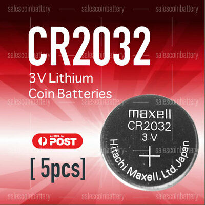 5 x CR2032 3V Lithium Batteries STOCK IN Melbourne 4 Watch Alarm Camera Key