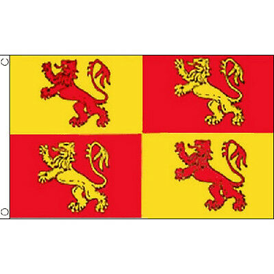 Owain Glyndwr Flag 5Ft X 3Ft Wales Welsh Banner With 2 Eyelets New