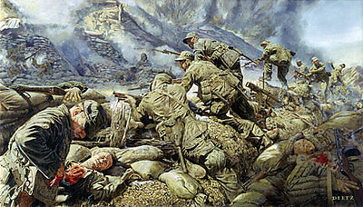 """At the Cutting Edge of Battle"" James Dietz Artist Proof - Rangers in Korea"