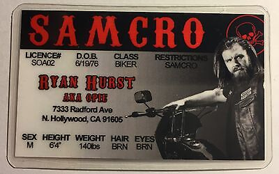 Opie - Ryan Hurst - Sons Of Anarchy / SAMCRO - Novelty Drivers License