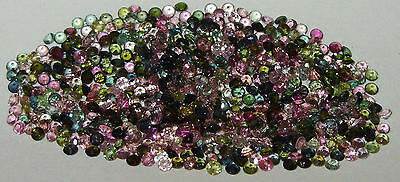 2.5mm Brazil Assorted Color Tourmaline Round Cut SPECIAL