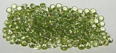 4mm Natural Mongolian Peridot Brilliant Round Cut