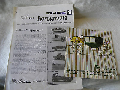 vintage foreign BRUMM toy buggy carriage die-cast RETAILER catalog lot ITALY