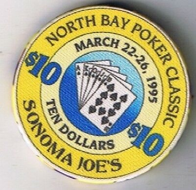 Sonoma Joe's $10.00 Noth Bay Poker Classic Casino Chip Petaluma California 1995