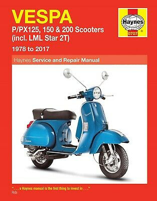 Haynes Manual 0707 - Vespa P125, PX125, P150, PX150, P200 78-14 workshop/service