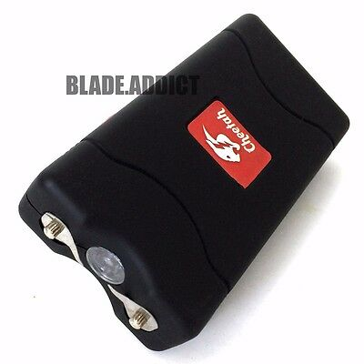 Cheetah BLACK 60MV Rechargeable Police LED Stun Gun Self Defense + Taser Case