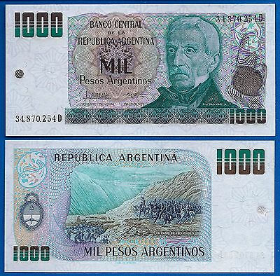 Argentina P-317 1000 Pesos Year ND 1984 Uncirculated Banknote