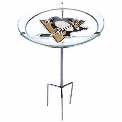 Pittsburgh Penguins Staked Bird Bath - NHL