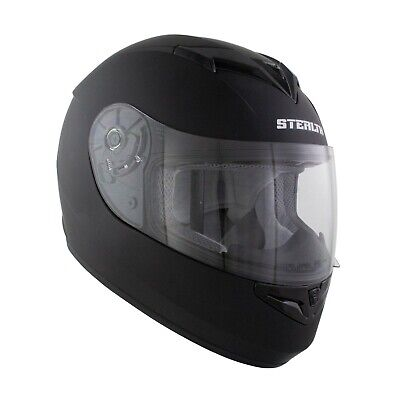 New Karting Crash Helmet Adult Full Face Matt Black Go Kart Race Leisure Cart