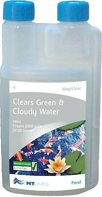 NT Labs Magiclear Clears Green Water Fast 250ml 500ml 1000ml Pond Treatment
