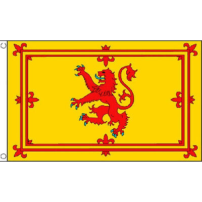Scotland Lion Large Flag 8Ft X 5Ft Scottish Scot Country Banner With 2 Eyelets