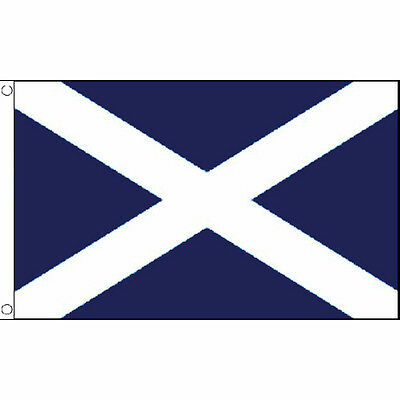 St Andrews Cross Navy Blue Large Flag 8ft x 5ft Scotland Banner With 2 Eyelets