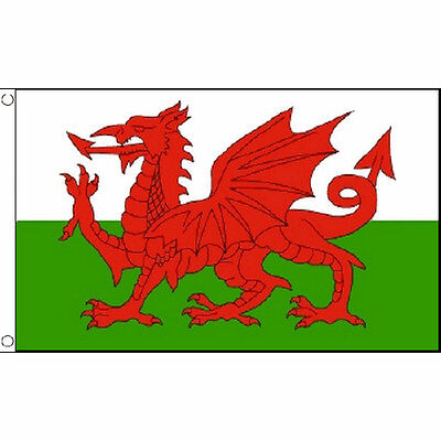 Wales Large Flag 8Ft X 5Ft Welsh Red Dragon St Davids Day Banner With 2 Eyelets