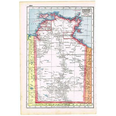 Antique Map 1920 - Northern Territory, Australia - Harmsworth Atlas