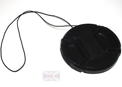 58mm Front Lens Cap Hood Cover Snap-on for Canon Olympus Nikon Pentax Camera