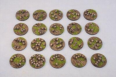 32mm Skull bases, scenic resin, Sci-fi fantasy by Daemonscape Qty10-50