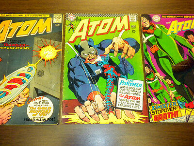 THE ATOM #12,27,38 DC Comics 1964-1968 lot