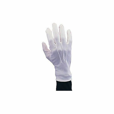 White Cotton Gloves Extra Large Stretch With Snap And Ribbing New