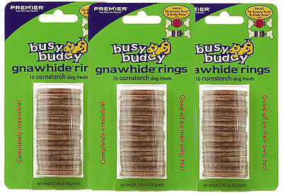 PetSafe/Premier Busy Buddy CORNSTARCH Gnawhide Refills Dog Small 3 PACK