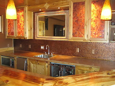 Roll of Faux Tin Kitchen Backsplash (WC40 Ant.Copper) 10' long