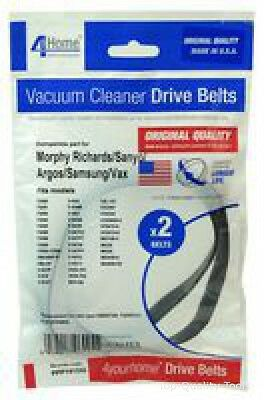 VACUUM BELTS, PACK OF 2, MORPHY RICHARDS Part No. PPP141OQ By 4 YOUR HOME