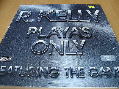 """R Kelly Playa's Only Feat The Game (PS) 12"""" Vinyl Single"""