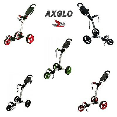 Axglo TriLite 3 Wheel Golf Trolley Inc FREE Transit Bag Worth £20
