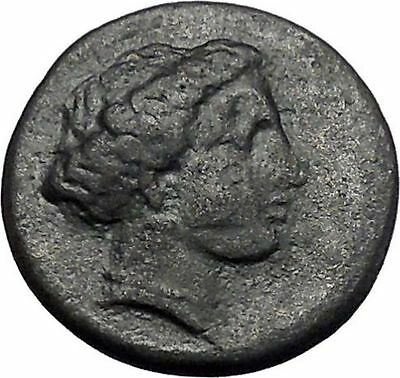 LARISSA in THESSALY 360BC Nymph Horse Authentic Ancient Greek Coin i49237