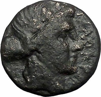 Thessalian League Larissa in Thessaly 196BC Apollo Athena Greek Coin i49246