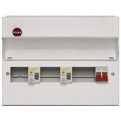 Wylex Metal Amendment 3 15 Way Dual RCD Consumer Unit - NMRS15SSLMHI